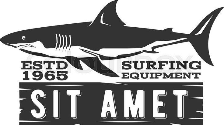 Vintage Surfing Store Badge design. Surf gear shop Emblem for web ...