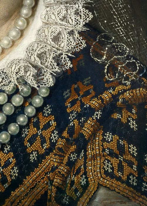 Scipione Pulzone, Portrait of Bianca Capello, Grand Duchess of Tuscany (detail), 1584 (x)