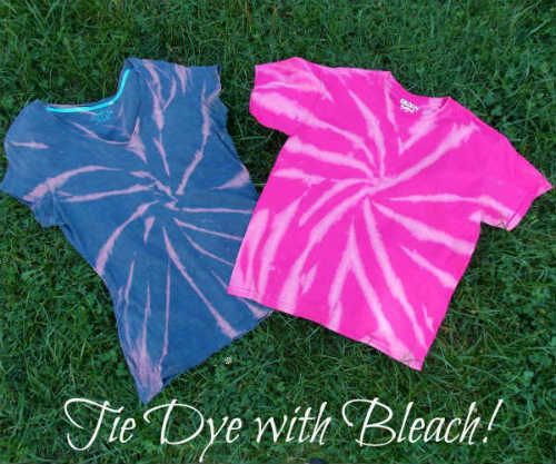 Reverse Tie Dyeing with Bleach | FiberArtsy.com