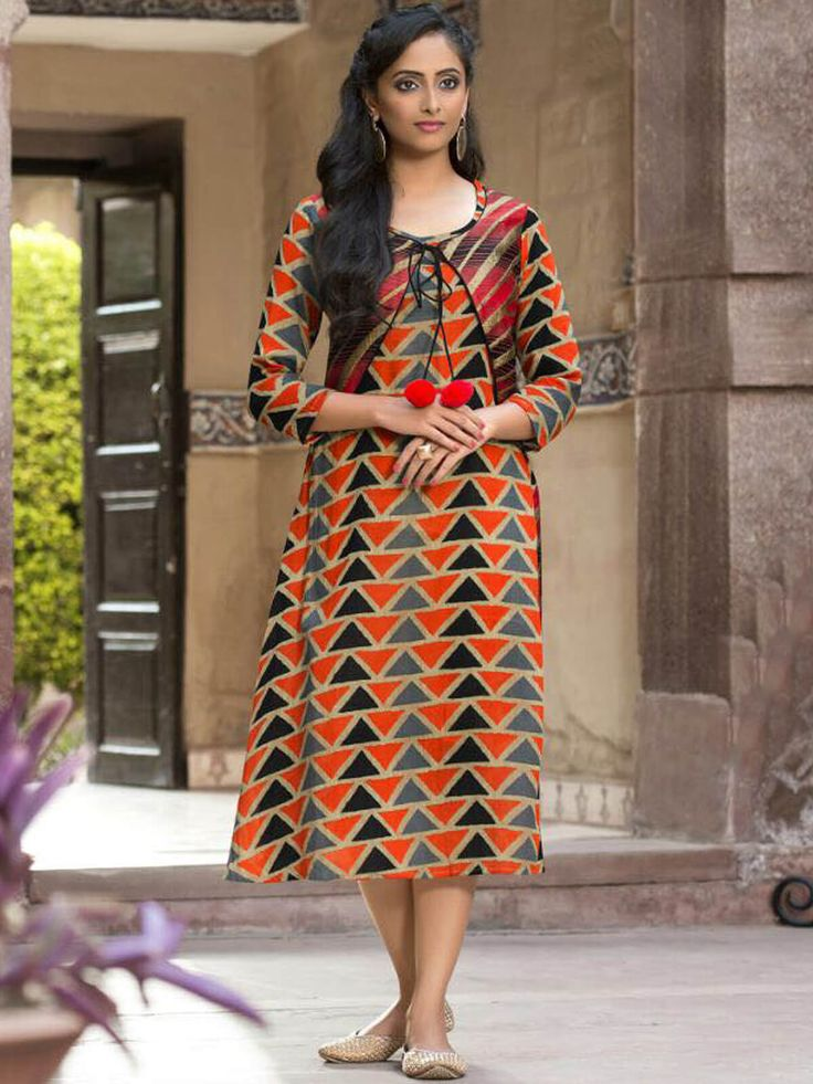 Refined orange cotton casual wear designer kurti. Having fabric cotton. This attire is nicely designed with print work. Gives you a awsome look for party or an occasion or any festivals. #mydesiwear #Kurtis #Designerkurtis #Cotton #LongCasualKurtis #TrendyCasualkurtis #DiscountOffer #OnlineShopping #PrintedCasualKurti #WeddingCollection #valentinegiftsforgirls #Uniquevalentinegifts #valentinegiftsforheronline #valentinesday #Spreadthelove