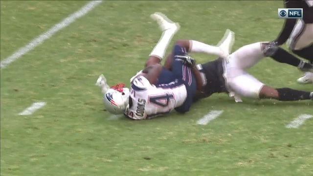 New England Patriots quarterback Tom Brady throws beautiful deep ball to wide receiver Bradin Cooks