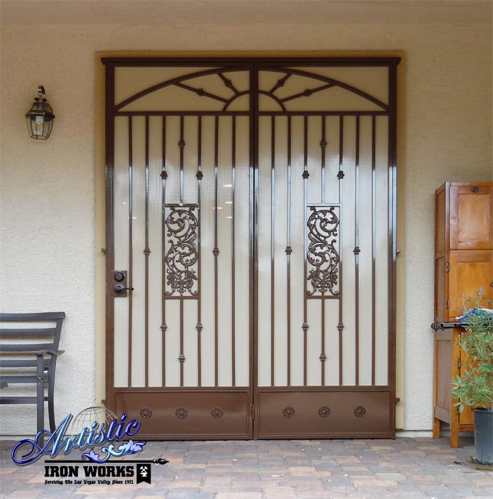 Wrought Iron Patio Doors : Best images about wrought iron security doors on pinterest