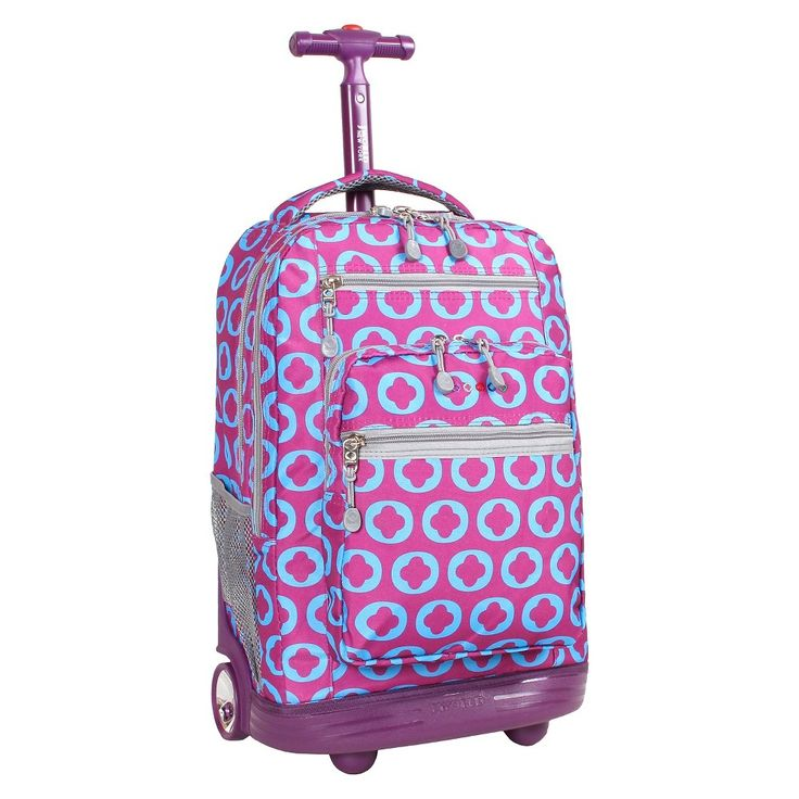 J World 20 Sundance Rolling Backpack with Laptop Sleeve - J Logo