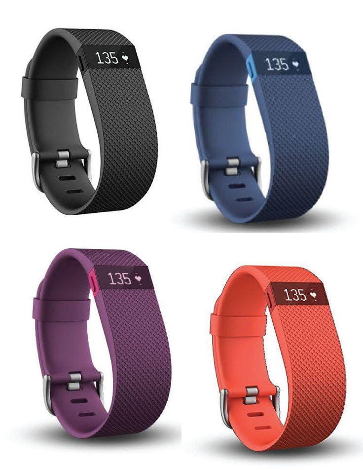 Fitbit Charge HR Wireless Activity Wristband Black Plum Blue Orange   eBay