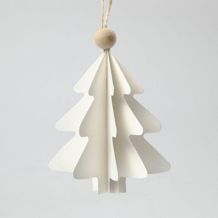 Foldede juletræer i karton | DIY vejledning