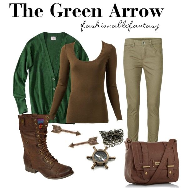 """The Green Arrow"" by fashionablefantasy on Polyvore. Love superhero fashion <3"