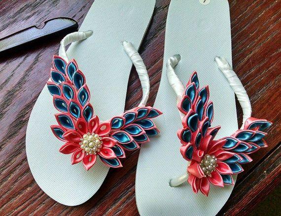 Flip Flops bruids schoenen bruids slippers door BridalShoppeandMore