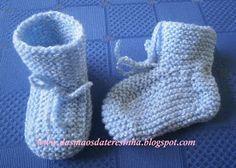 Das Mãos da Teresinha: Botas muito simples em tricô  (agora com o PAP com...