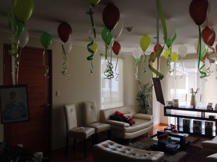 Decoración con globos minecraft
