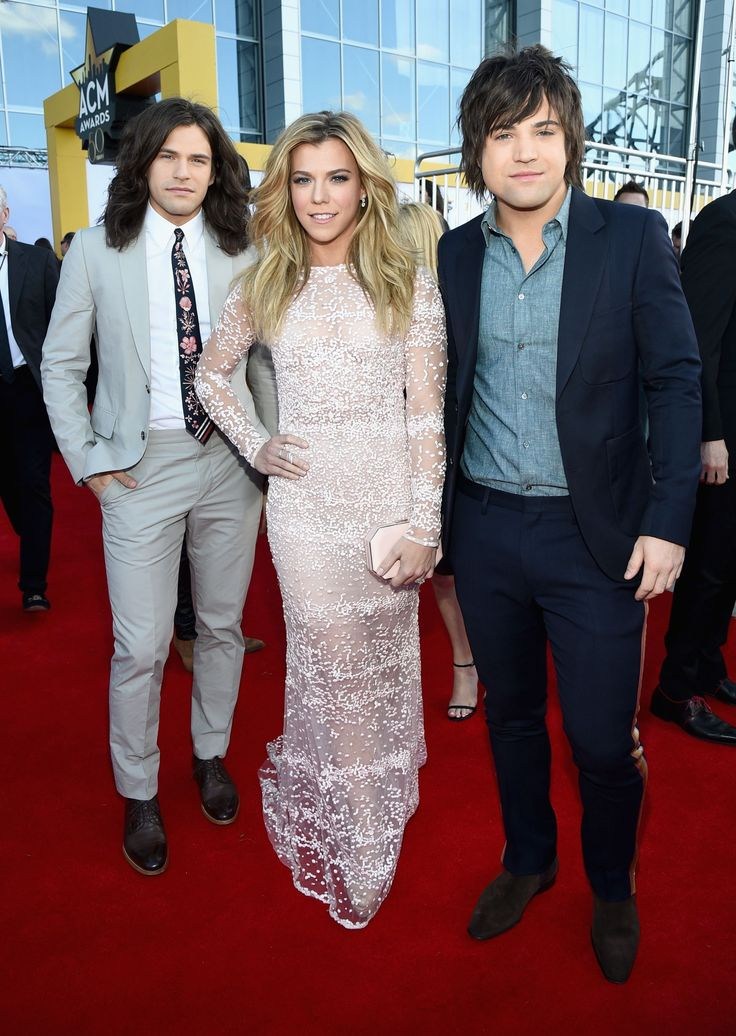 2015 Academy of Country Music Awards - Reid Perry, Kimberly Perry and Neil Perry of The Band Perry attend the 50th Academy of Country Music Awards at AT&T Stadium in Arlington, Texas, on April 19, 2015.