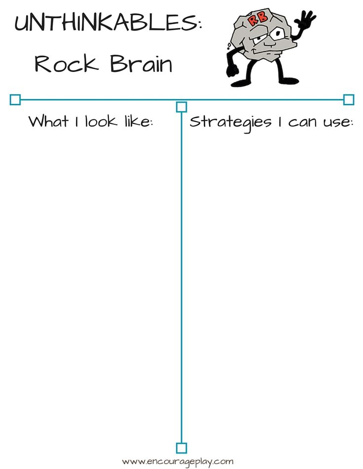 Social Thinking At Home: Unthinkables - Rock Brain — Encourage Play