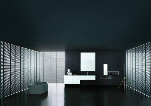 Contemporary bathroom / oak / Corian® B14 by Norbert Wangen Boffi