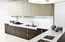 Modern White And Brown Color Of Magika Kitchen By Pedini For 2013 Design Orientation