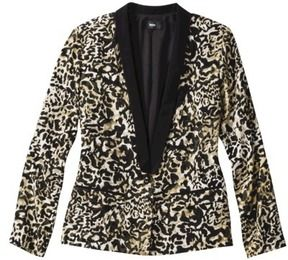 Mossimo® Women's Tuxedo Jacket -Animal Print. I'm thinking a floral print instead.