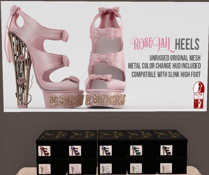Violent Seduction - Rose Jail Heels $150L/color! Visit VS @ .tsg. Mall http://maps.secondlife.com/secondlife/The%20Emporium/165/182/485