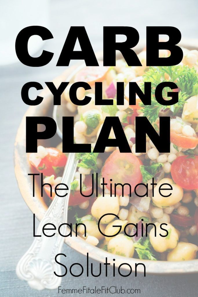 Carb Cycling Plan - the ultimate lean gains solution