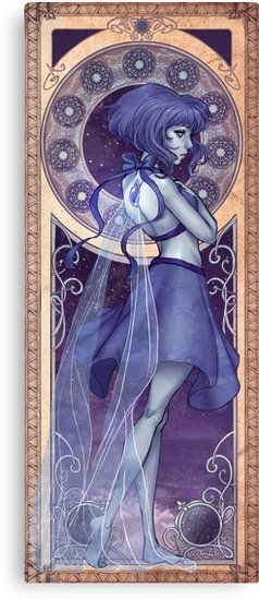 The lapis lazuli panel of my steven universe art nouveau series • Also buy this artwork on wall prints, apparel, stickers, and more.