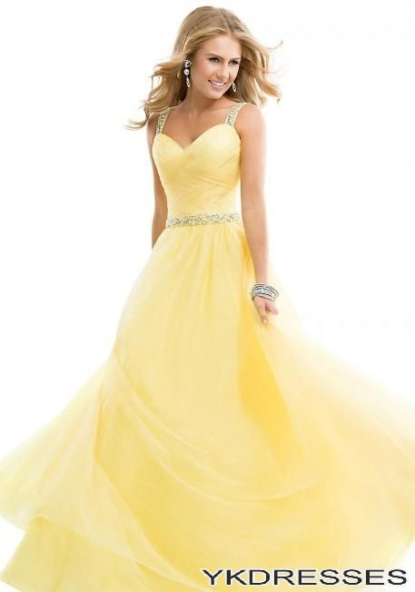 yellow prom dress wish I could pull off yellow