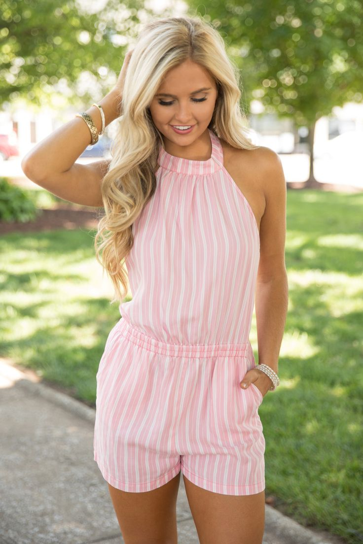 She's Sure To Charm Romper Pink - The Pink Lily