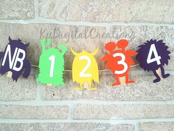 Monster 1st birthday party, little monster 1st birthday, monster 12 month photo banner Check out this item in my Etsy shop https://www.etsy.com/listing/561230253/monster-1st-year-photo-banner-monster