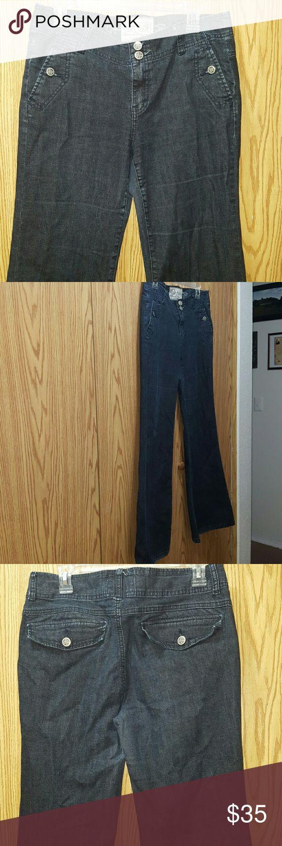American Rag Jeans Super cute dark blue flared Jeans by American Rag Size 11 American Rag  Jeans Flare & Wide Leg