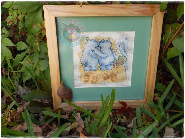 La Cute Artesana: Cuadro de hipopótamos