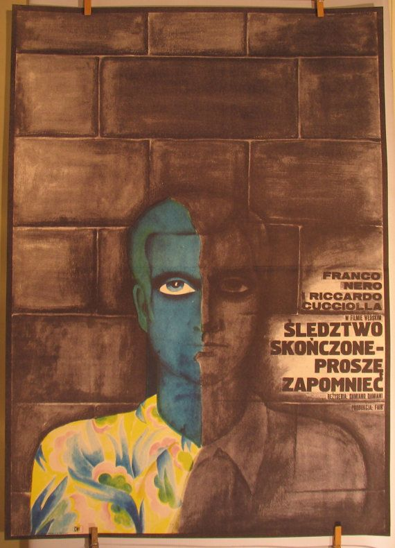 Italian 1971s film  L'istruttoria è chiusa by artwardrobe on Etsy, $99.99