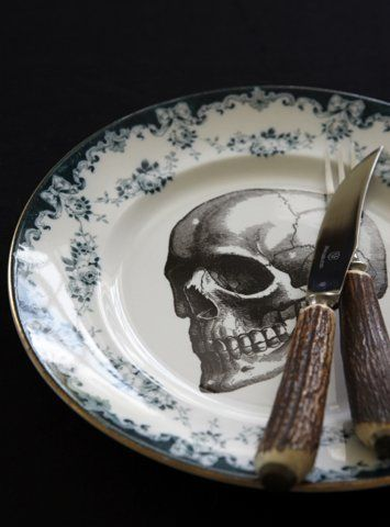 tableware, skull