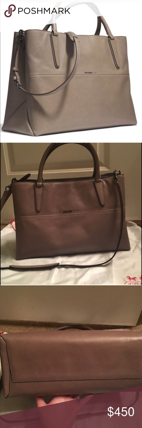 Coach Borough bag NWT. Gorgeous bag. Great for shoulder bag and comes with long strap, too Coach Bags