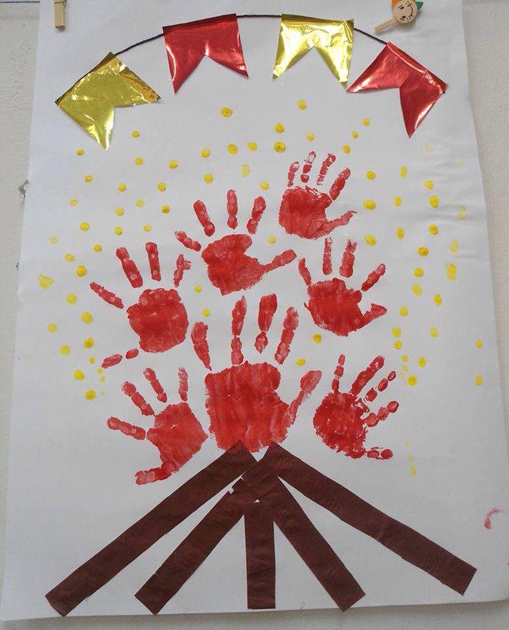 Fogueira Hand print