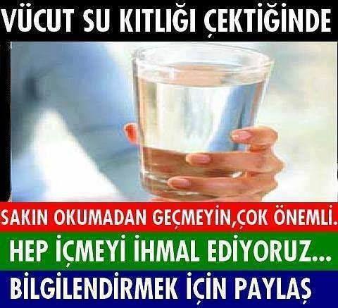 BUNLARI BİLİYOR MUYDUNUZ...? Bir çok hastalığın ana sebebini anlamak için, lütfen aşağıda aktarılan bilgileri dikkatlice ve özenle okuyalım ve lütfen sevdiklerimiz için paylaşalım.... * Vücut su kıtlığı çektiğinde kandaki suyu kullanırsa, YÜKSEK TANSİYON hastalığına yakalanırız. * Vücut su kıtlığı çektiğinde omurlardaki suyu kullanırsa, BEL VE BOYUN FITIĞI hastalığına yakalanırız. * Vücut su kıtlığı çektiğinde kemiklerdeki suyu kullanırsa, gut - atrit gibi romatizmal hastalıklara…