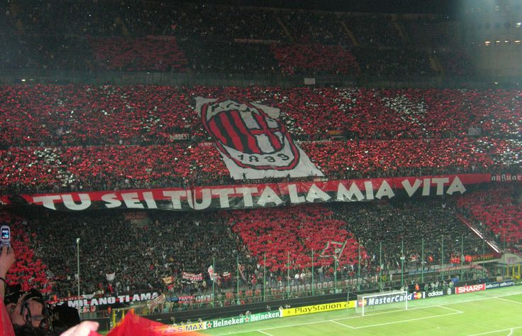 AC Milan fans at the San Siro