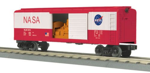 MTH-Railking-O-Gauge-Trains-NASA-Rounded-Roof-Box-Car-w-039-Generator-30-74803
