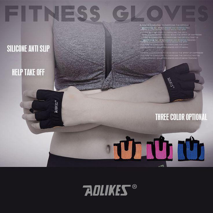 AOLIKES 1 Пара противоскольжения Мужчин и Женщин Перчатки Тренажерный Зал Бодибилдинг Тренировки Спорт Перчатки для Фитнеса Crossfit #jewelry, #women, #men, #hats, #watches, #belts