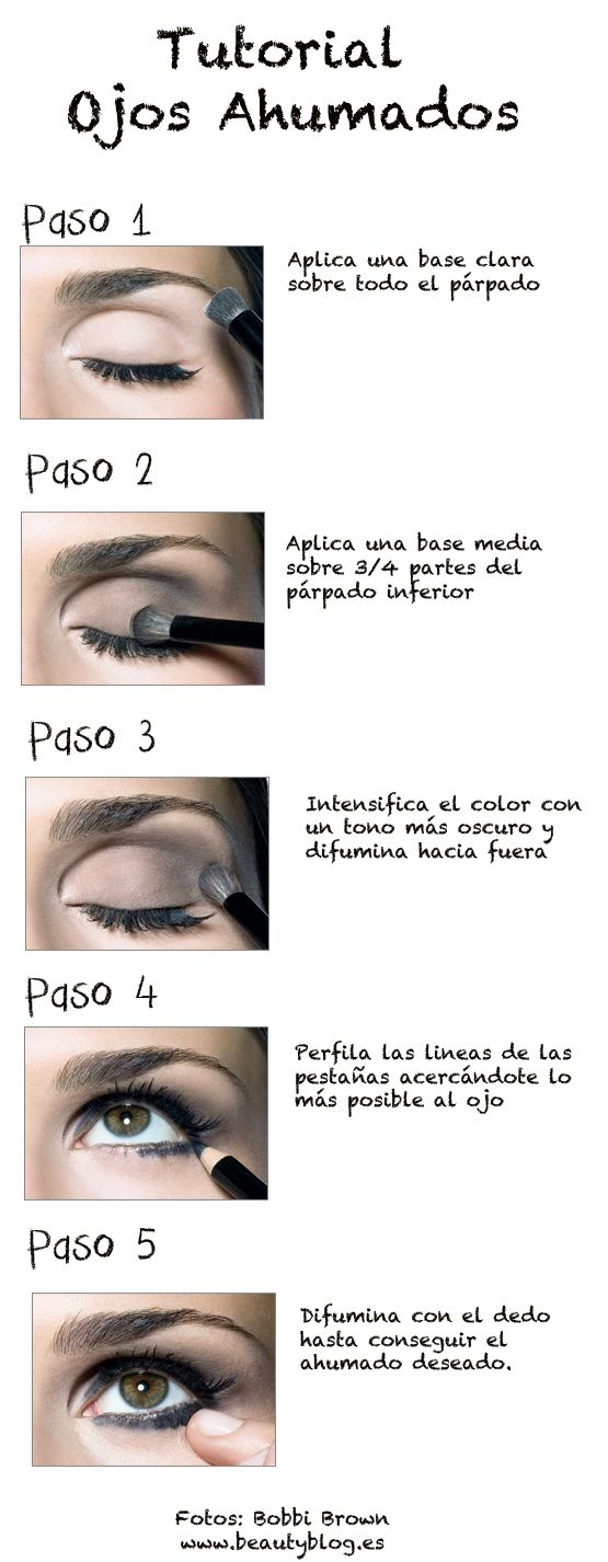 Tutorial Ojos ahumados Bobbi Brown