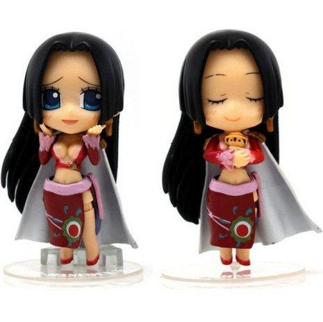 1pcs/set 10cm Anime One Piece Boa Hancock CHIBI-Arts DIY Dress Changed Action Figure Toy with 4 Classical Expressions For Christmas Gifts by MsDIYSupplies on Etsy