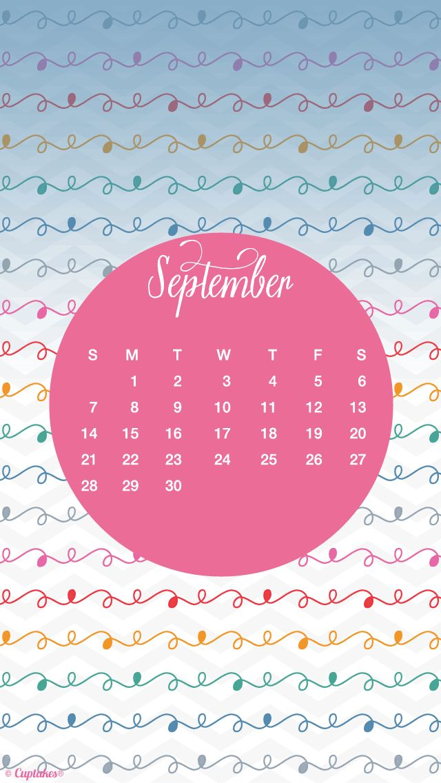 Pink September Calendar Iphone Wallpaper Background Phone Lock Screen