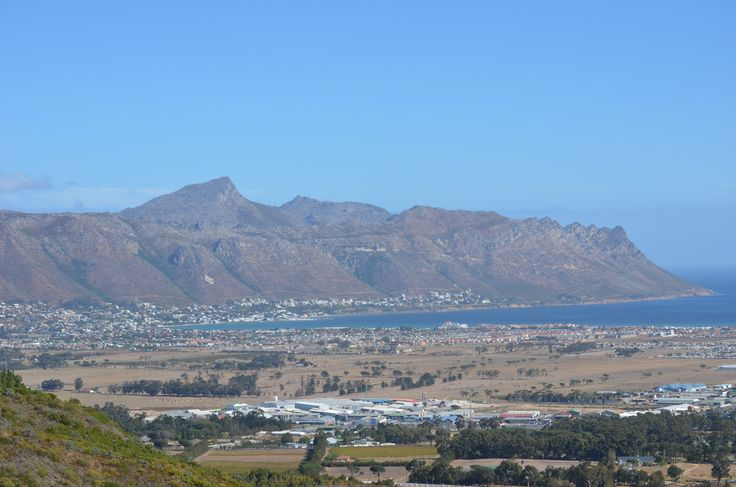 Gordons Bay as seen from Waterkloof Wine Estate against Schapenberg hill. #GordonsBay #Waterkloof #Schapenberg