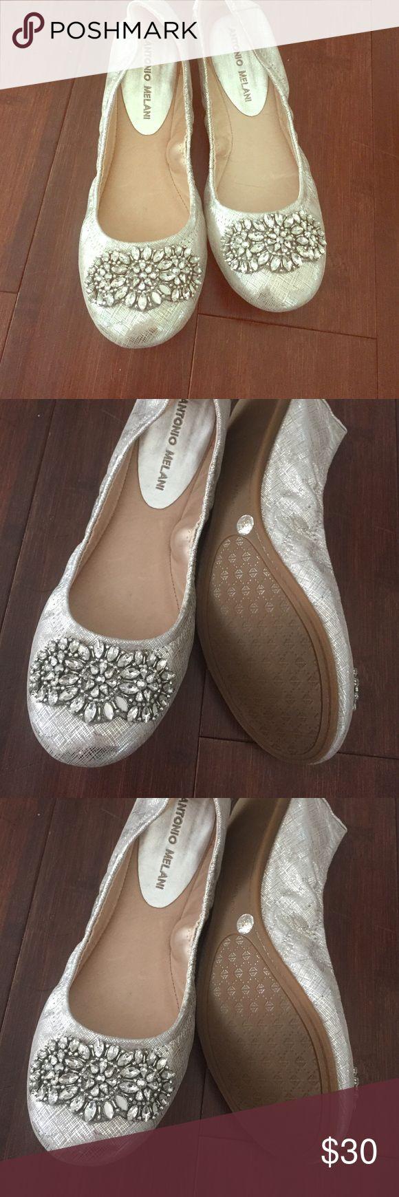 NWOT Antonio Melani ballet flats with rhinestones NWOT Antonio Melani ballet flats with rhinestones ANTONIO MELANI Shoes Flats & Loafers