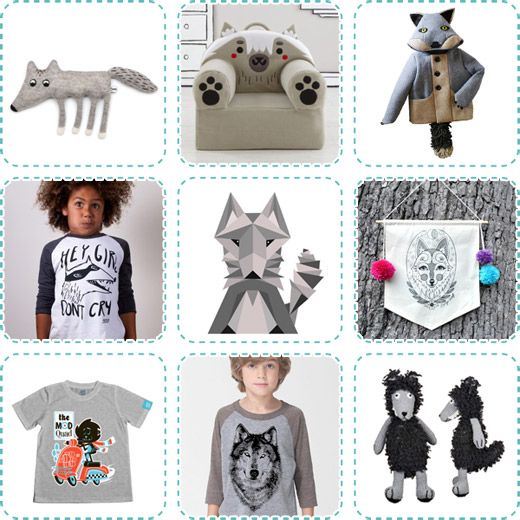 Wolf, wolves, kids t-shirts, softies, toys, art