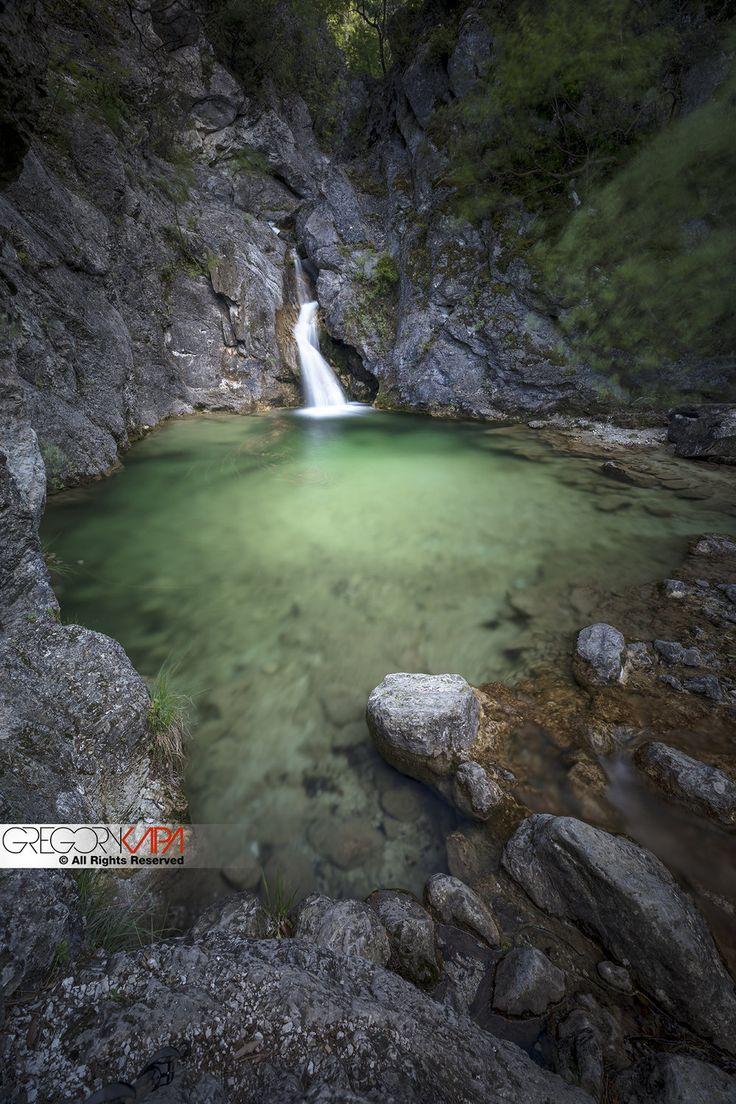 Beautiful lake at mountain of Olympus