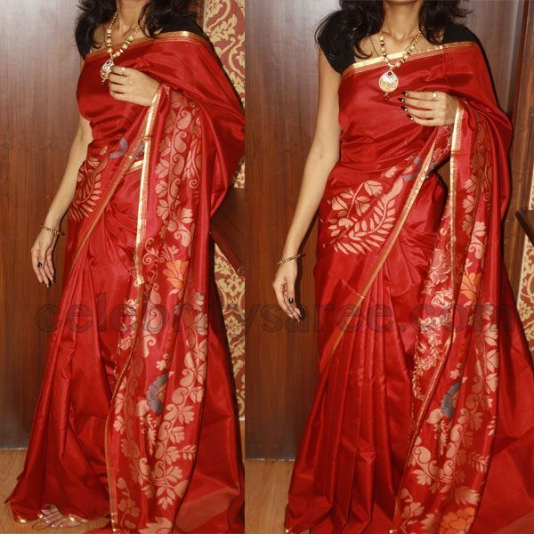 Latest Thread Work Uppada Sarees - Saree Blouse Patternss Send this saree