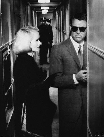 Cary Grant & Eva Marie Saint in North by Northwest, directed by Alfred Hitchcock 1959
