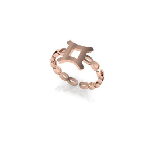 İkizler Burç Yüzük - Gemini Zodiac Ring