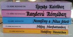 Claire Kenneth romantikus regények, könyvcsomag