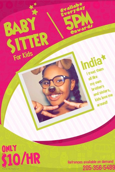 copy of babysitting flyer template home life pinterest babysitting flyers babysitting and templates