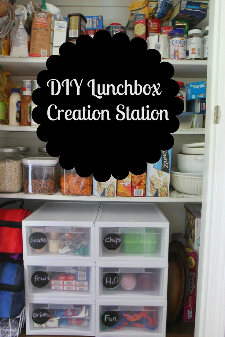 DIY Lunchbox Creation Station. Fantastic idea! Have it organized by group numbers and the kids have to choose on item in every number! They get to choose their lunch but you know they are getting well rounded nutrition.