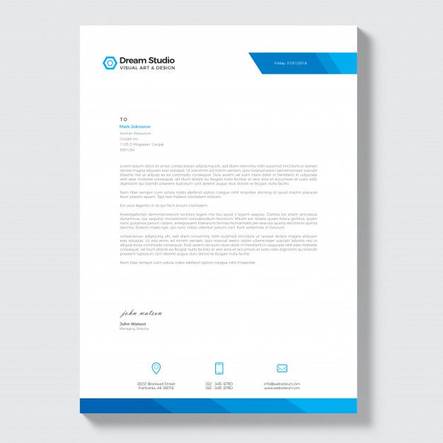 Free Company Letterhead Template Download from i.pinimg.com