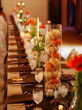 Thanksgiving pumpkin centerpiece