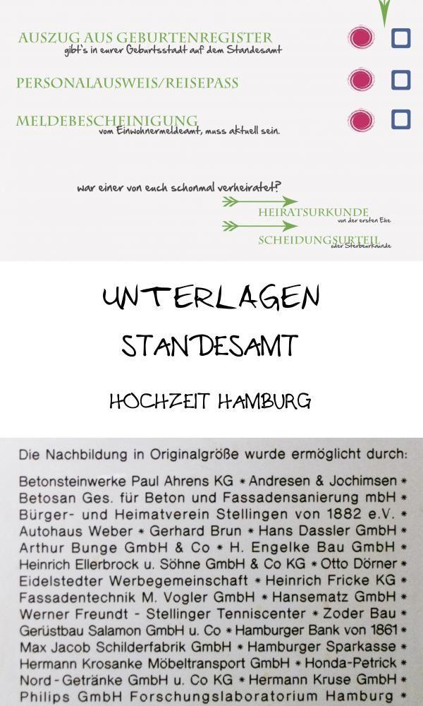Heiraten In Hamburg Unterlagen